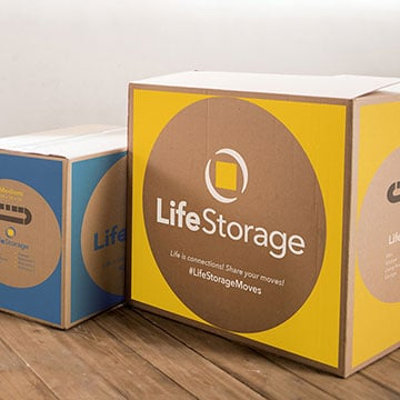 Small Moving Boxes Sold at Life Storage