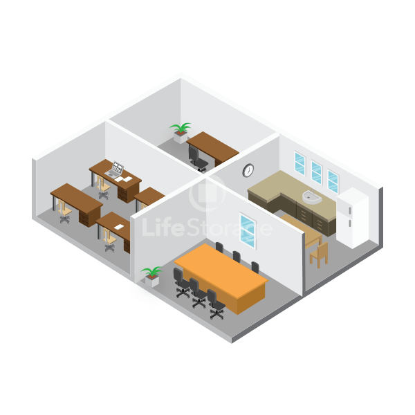 624 sq. feet Space