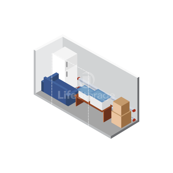 Space diagram  sc 1 st  Life Storage & Storage Units at 5060 N Palafox St - Pensacola - Life Storage #402