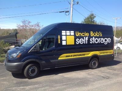 Truck rental available at Life Storage at 55 Holman Rd in Plymouth
