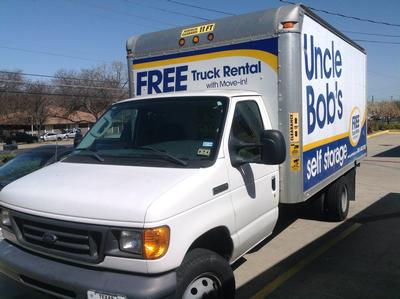 Truck rental available at Life Storage at 6509 South 1st Street in Austin
