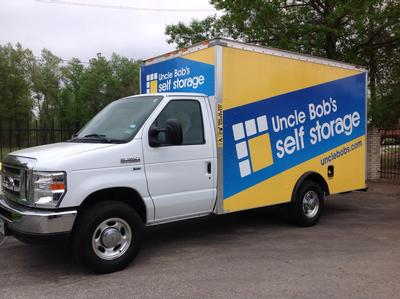 Truck rental available at Life Storage at 19415 Pinehurst Trail Drive in Humble