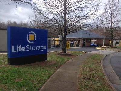 Storage buildings at Life Storage at 1400 Orchard Lake Dr in Charlotte