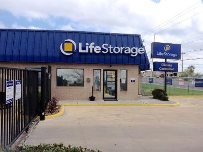Storage buildings at Life Storage at 9665 Marbach Road in San Antonio