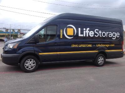 Truck rental available at Life Storage at 9665 Marbach Road in San Antonio