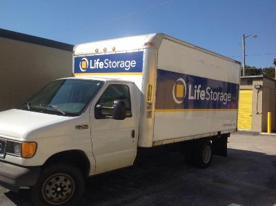 Truck rental available at Life Storage at 1099 S Congress Ave in Delray Beach