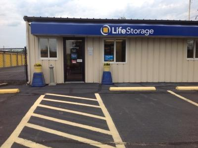 Storage buildings at Life Storage at 38390 Chester Road in Avon