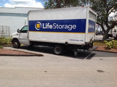 Truck rental available at Life Storage at 6010 E Hillsborough Ave in Tampa