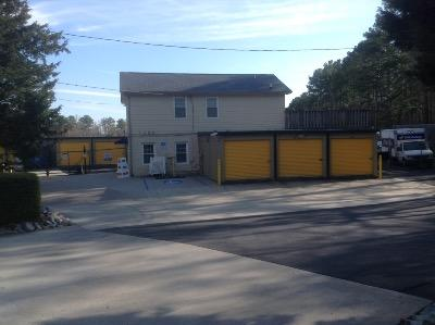 Storage buildings at Life Storage at 1200 E Cornwallis Rd in Durham