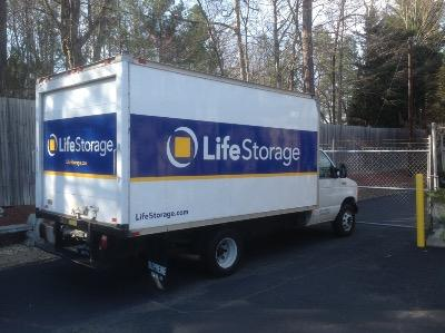 Truck rental available at Life Storage at 1200 E Cornwallis Rd in Durham