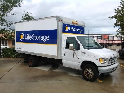 Truck rental available at Life Storage at 111 Tomahawk Dr in Indian Harbour Beach