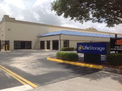 Storage buildings at Life Storage at 9900 SW 18th St in Boca Raton