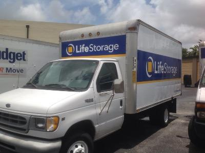 Truck rental available at Life Storage at 9900 SW 18th St in Boca Raton