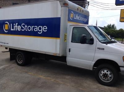Truck rental available at Life Storage at 1701 FM 1960 Bypass Rd E in Humble