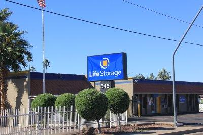 Storage buildings at Life Storage at 545 W Broadway Rd in Mesa