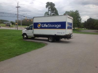 Truck rental available at Life Storage at 2585 Brighton Henrietta Town Line Rd in Rochester