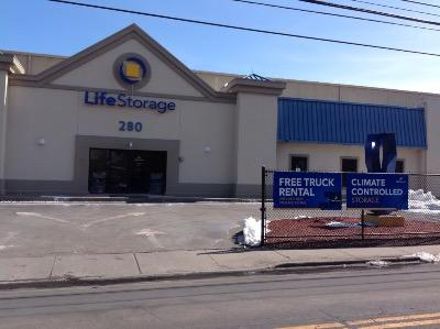 Storage buildings at Life Storage at 280 Fairfield Avenue in Stamford