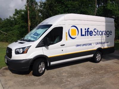 Truck rental available at Life Storage at 2828 FM 1488 in Conroe
