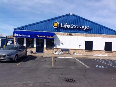 Storage buildings at Life Storage at 110 Saxon Ave in Bay Shore