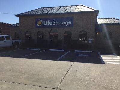 Storage buildings at Life Storage at 9145 Jones Rd in Houston