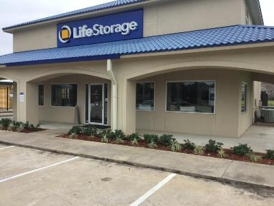 Storage buildings at Life Storage at 7400 Barker Cypress Rd in Cypress