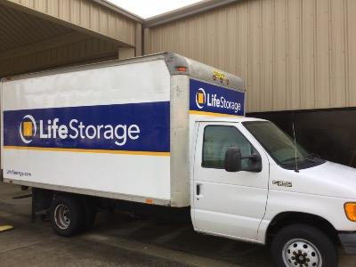 Truck rental available at Life Storage at 455 W Cedar Bayou Lynchburg Rd in Baytown