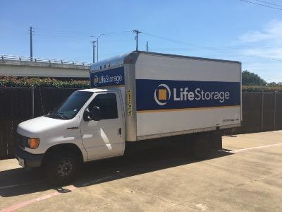 Truck rental available at Life Storage at 8555 Manderville Ln in Dallas