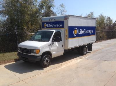 Truck rental available at Life Storage at 2401 S Wilmington St in Raleigh