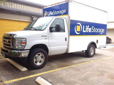 Truck rental available at Life Storage at 2300 Broadway St in San Antonio