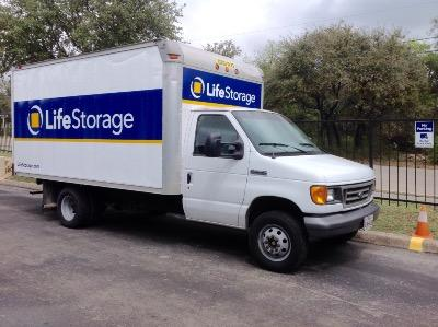 Truck rental available at Life Storage at 11947 Huebner Rd in San Antonio