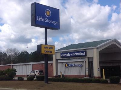 Storage buildings at Life Storage at 421 Classic Dr in Hattiesburg