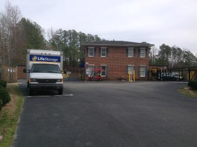 Storage buildings at Life Storage at 5000 Atlantic Ave in Raleigh