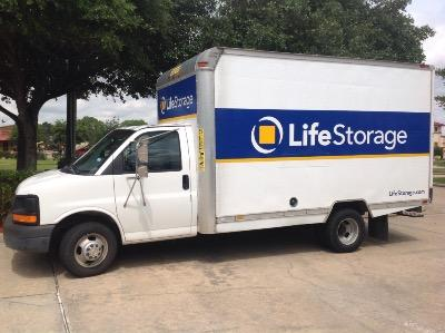 Truck rental available at Life Storage at 2499 South Mason Rd in Katy