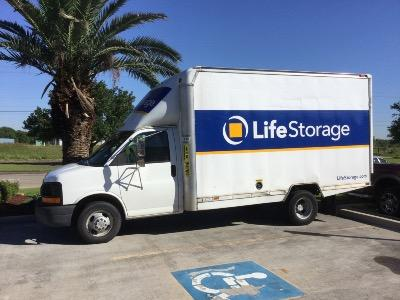 Truck rental available at Life Storage at 4333 FM 2351 Rd in Friendswood