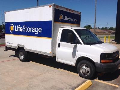 Truck rental available at Life Storage at 3411 Rayford Road in Spring