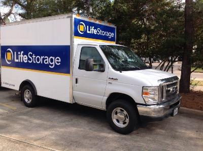 Truck rental available at Life Storage at 4455 Panther Creek Pines in The Woodlands