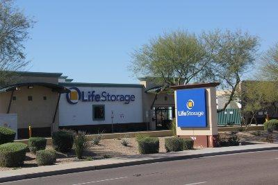 Storage buildings at Life Storage at 2924 N 83rd Ave in Phoenix