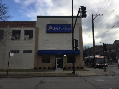 Storage buildings at Life Storage at 2051 North Austin Ave in Chicago