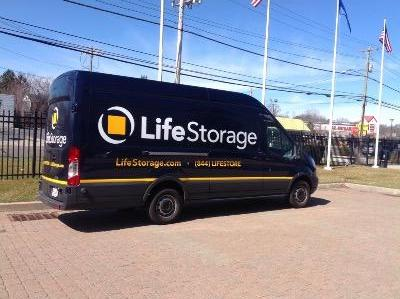 Truck rental available at Life Storage at 1525 Boston Post Road in Milford