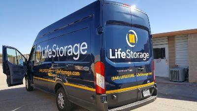 Truck rental available at Life Storage at 1515 North AW Grimes Blvd in Round Rock