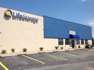 Storage buildings at Life Storage at 1600 Woodson Rd in Saint Louis
