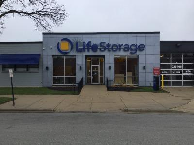 Storage buildings at Life Storage at 6505 Oakton St in Morton Grove