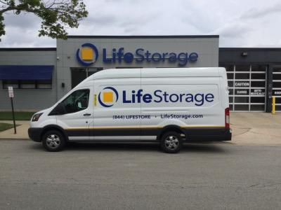 Truck rental available at Life Storage at 6505 Oakton St in Morton Grove