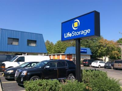 Storage buildings at Life Storage at 390 S Van Brunt St in Englewood
