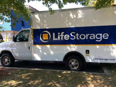 Truck rental available at Life Storage at 390 S Van Brunt St in Englewood