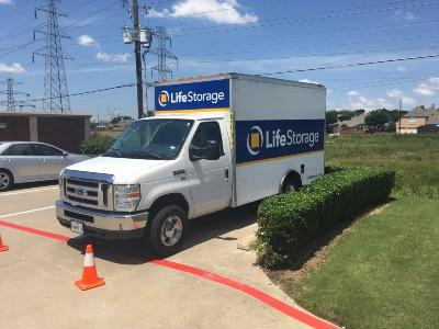 Truck rental available at Life Storage at 585 S MacArthur Blvd in Coppell