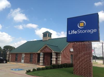 Storage buildings at Life Storage at 6615 N Beach St in Fort Worth