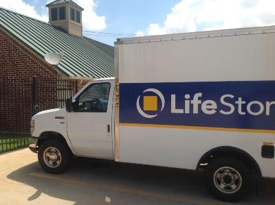 Truck rental available at Life Storage at 6615 N Beach St in Fort Worth