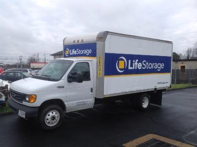 Truck rental available at Life Storage at 1210 Bentley Street in Richmond