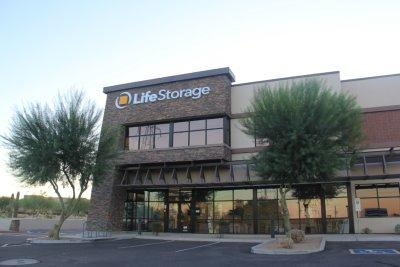 Storage buildings at Life Storage at 7227 E Williams Dr in Scottsdale